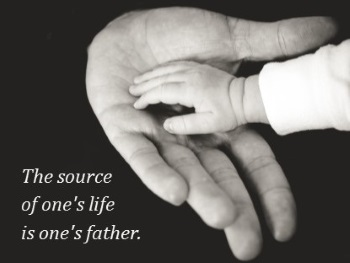 In the Bible the source of a person's life is their father. Therefore, the Bible refers to God as He.